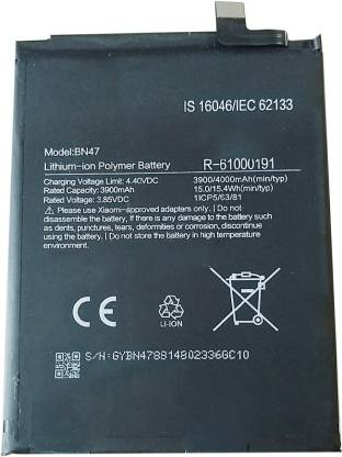 Redmi MI Note 6 Pro BN47 4000 mAh Battery buy online