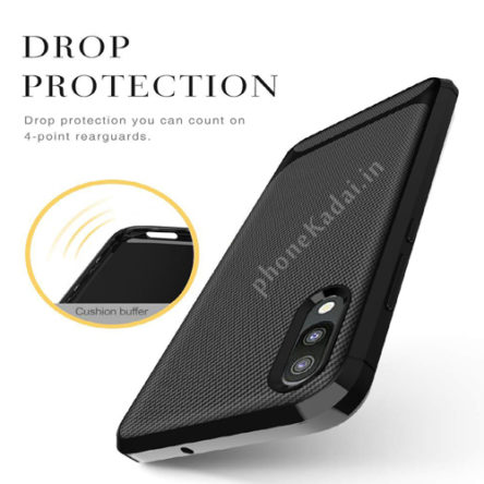 Redmi A3 Carbon Fibre Grip TPU Back Case-Back Cover