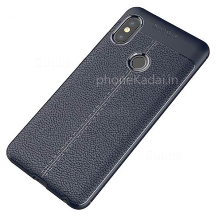 Oppo A3s AutoFocus Line Leather Finish Sillicon Case Back Cover
