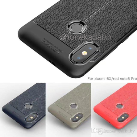 Samsung A30s AutoFocus Line Leather Finish Sillicon Case Back Cover
