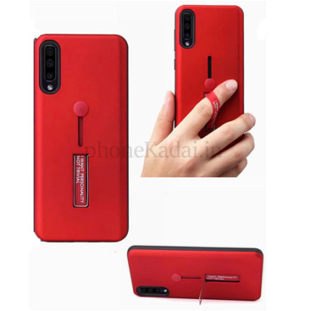 Samsung A10s Personality TPU + PC Dual Layer with Stand & Finger Holder Back Case Cover