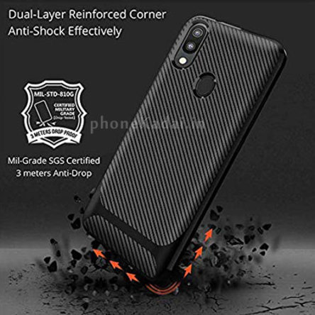 Redmi Note 7 Carbon Fibre Grip TPU Back Case-Back Cover