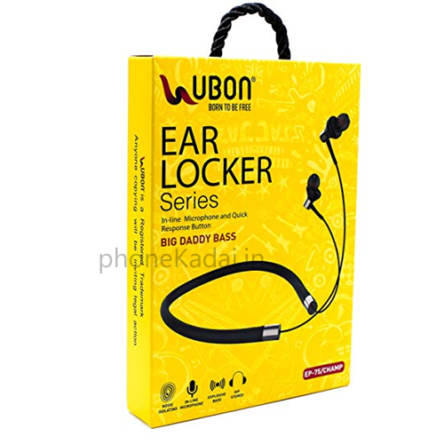 Ubon EP-75 Wired Neckband Headset in Best Online Price