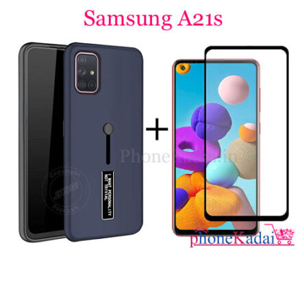 Samsung A21s Back Case and Tempered Glass Combo Offer