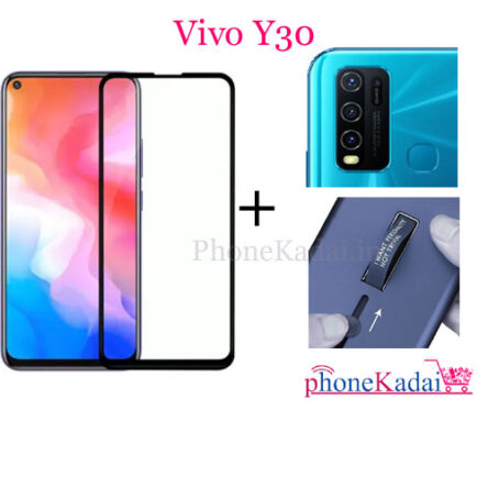 Vivo Y30 Back Case and Tempered Glass Combo Offer