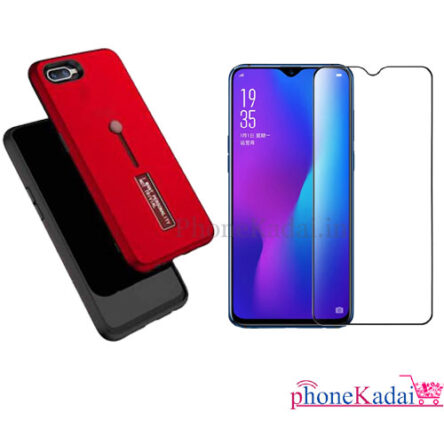 Oppo A1k Back Case and Tempered Glass buy Online
