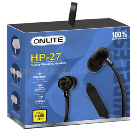 Onlite HP-27 Wireless Sports Bluetooth Headset