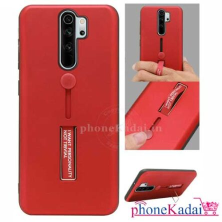Redmi Note 8 Pro Stand Back Case with Finger Holder