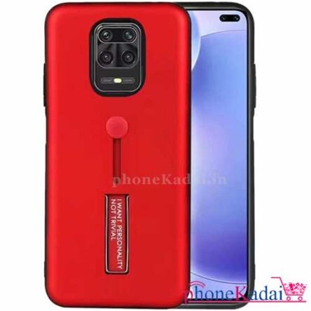 Redmi Note 9 Pro Max Stand Back Case with Finger Holder